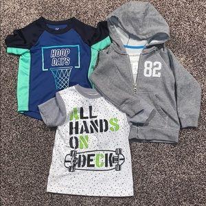 Boys T-shirt/ Zip Up Hoodie Bundle SZ.3T